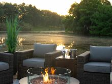 Patio Propane Fireplace Outdoor Decor