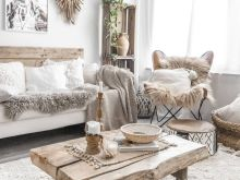 rustic boho living room