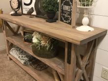 Rustic Foyer Tables