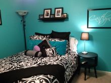 Turquoise Black And White Bedroom Ideas