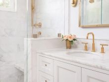 white and gold bathroom ideas