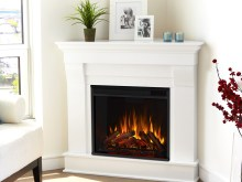 White Corner Fireplace