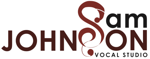 Sam Johnson Vocal Studio logo. Mesa Voice Lessons