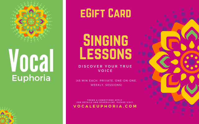 Singing Lessons eGift Card