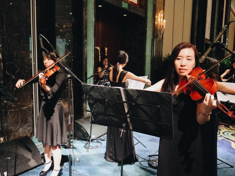 String ensemble in island ballroom 3