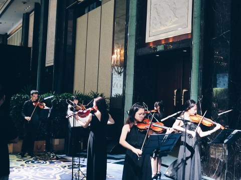 String ensemble in island ballroom