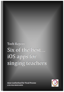 The free Report on six of the best voice analysis apps for Singing Teachers