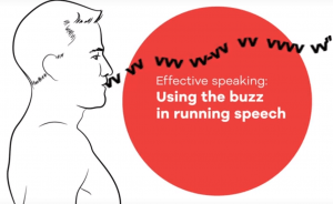 Singers and speakers can improve their voice by using the buzz exercise in running speech