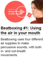 Beatboxing exercise on video from the book This Is A Voice