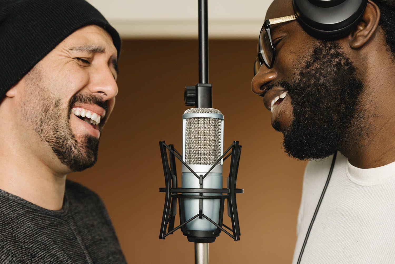 Male duet singing