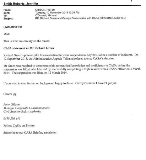 """FOI launched on """"Right-to-Know"""" about Richard Green"""