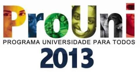 Programa Universidade para Todos - Prouni 2013