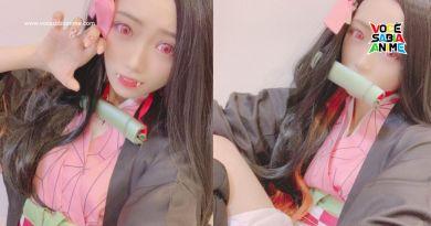 Rika Nakai conquista fãs com Cosplay de Nezuko