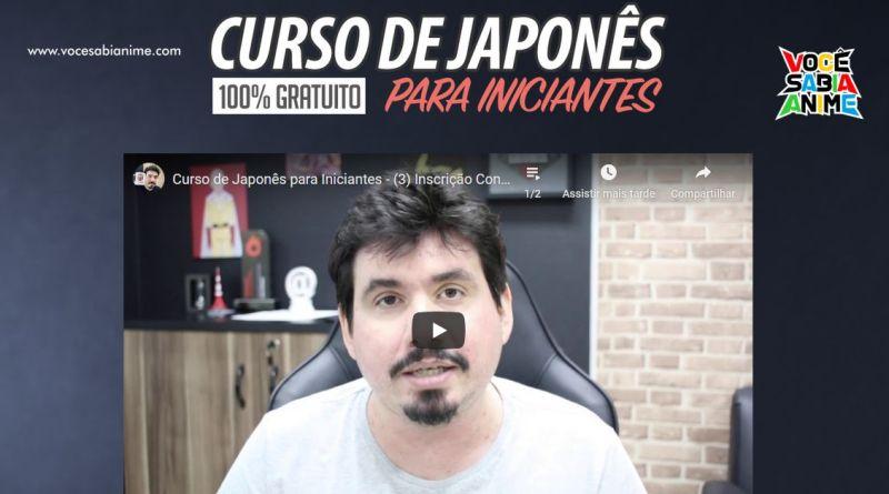 Curso de Japonês Online de Graça para Iniciantes
