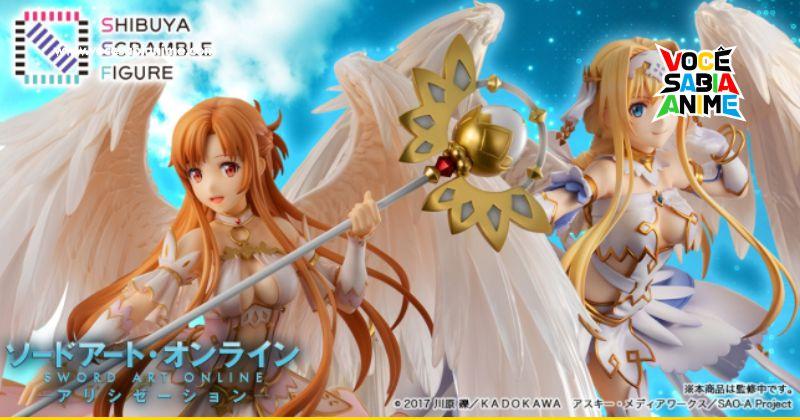 Asuna e Alice viram Anjos nestas Figures