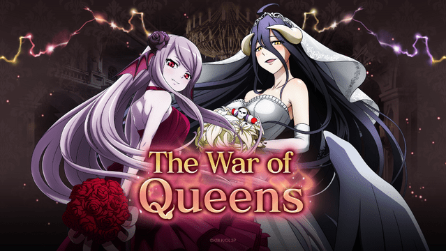 "Duas noivas aguardam Momonga em ""The War of Queens"" para o evento Mass For The Dead!"
