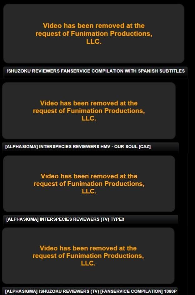 Funimation esta eliminando videos de Ishuzoku Reviewers en PHub