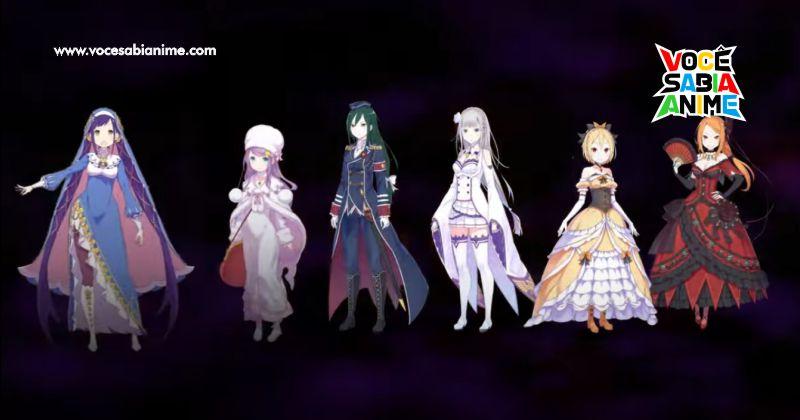 Novo game de Re Zero tem a 6º Candidata ao Trono