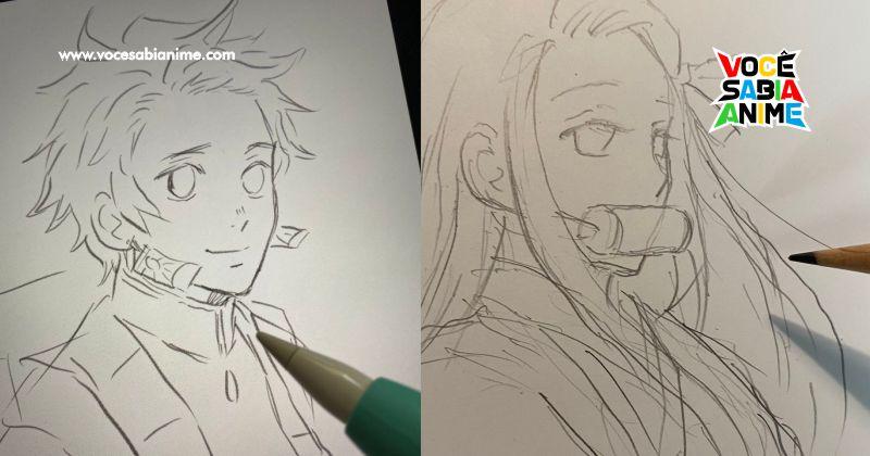 Autora de Nodame Cantabile desenha Nezuko, Bakugo e mais