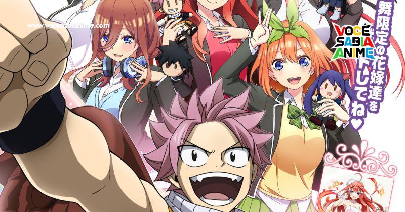 Game Mobile de Fairy Tail tem Collab com irmãs de Gotoubun
