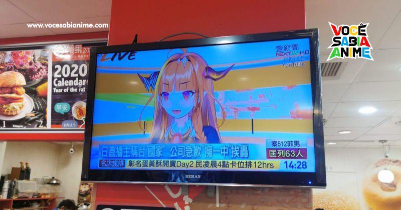 TV de Taiwan Repercute caso de VTubers que irritaram os chineses