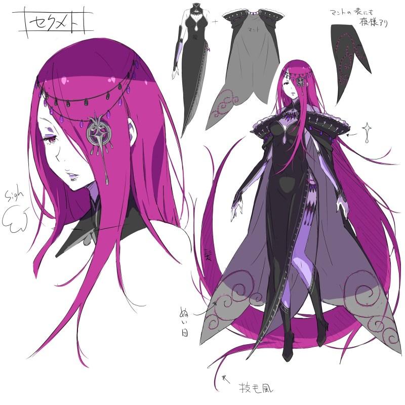 ReZero - Designs Iniciais de algumas Bruxas e mais