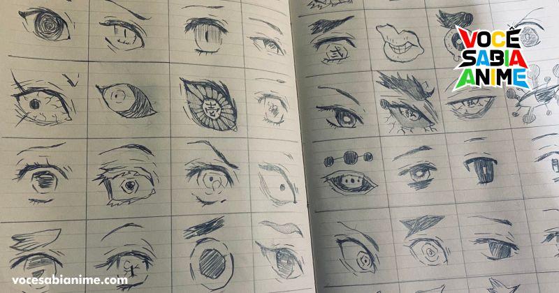 Fã compila os vários olhos em Kimetsu no Yaiba