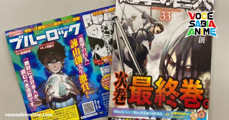 Hajime Isayama recomenda o mangá Blue Lock