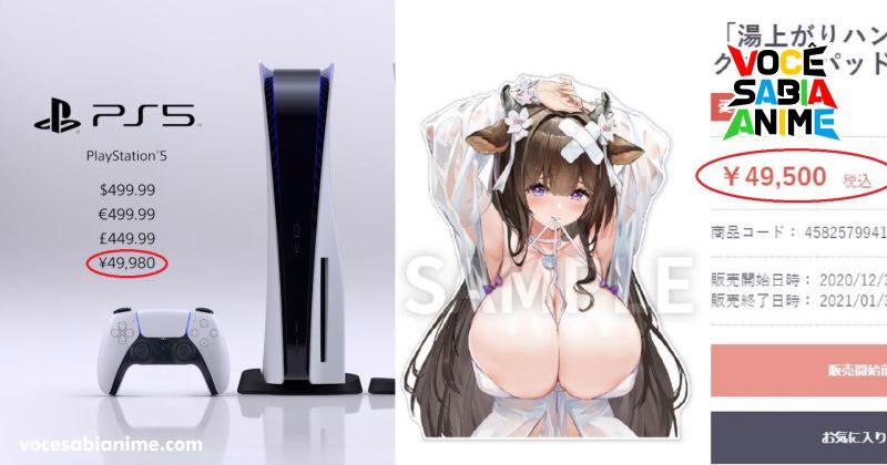 Mousepad da Kashino custa o mesmo que um PS5