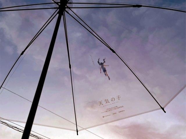 Tenki no Ko tem visual icônico em Guarda chuvas