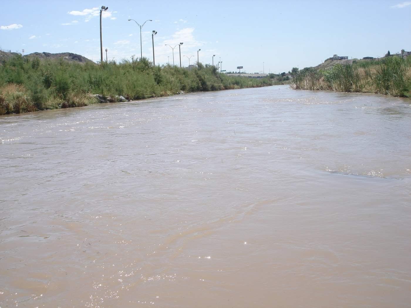 Río Bravo divide a El Paso y Ciudad Juárez. Foto: Wikimedia Commons