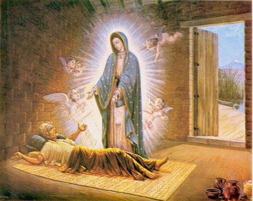 La Virgen de Guadalupe con Juan Bernardino. (Especial)