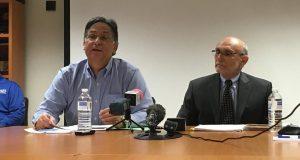 Manuel Mata, presidente de AES, y el abogado Pedro Reyes, asesor en asuntos ambientales.