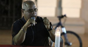 José Manuel Díaz Pérez, portavoz del Comité Pro Salud, Desarrollo y Ambiente de Tallaboa. (Voces del Sur)