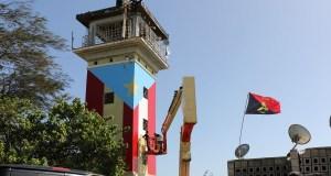 Héctor Collazo Hernández pintó la bandera boricua en la torre de La Guancha. (Voces del Sur)