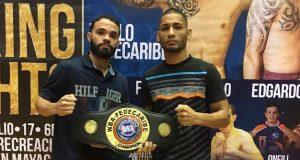 """Félix """"La Sombra"""" Caraballo defenderá el título de las 126 libras versión de la AMB ante el ponceño Edgardo """"Eggie"""" Laboy el sábado en Mayagüez."""