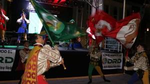 Storici Sbandieratori Delle Contrade Di Cori, de Italia, durante el Puerto Rico International Folk Fest 2017 en Guánica. (Voces del Sur)