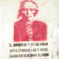 TÚ... HIPÓCRITA QUE TE MUESTRAS HUMILDE ANTE EL EXTRANJERO Y QUE TE VUELVES SOBERBIO CON TUS HERMANOS DEL PUEBLO