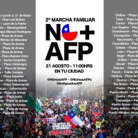 DOMINGO 21 DE AGOSTO DE 2016 - 2° MARCHA FAMILIAR NO + AFP