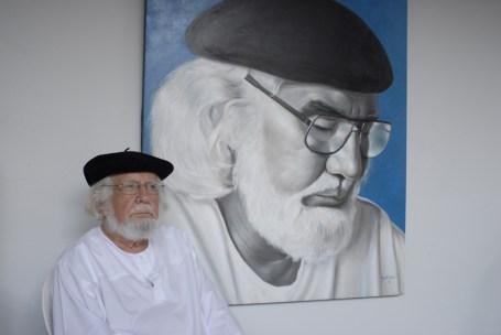 14.-Ernesto Cardenal, en la Casa de los Tres Mundos