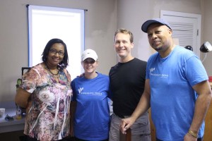 The Prep And Painting Crew At Catholic Charities facilities Born Free and New Beginnings Program With Program Director Ms Lisa(Left)