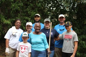 Volunteer Crew Working At Ms Lucys home