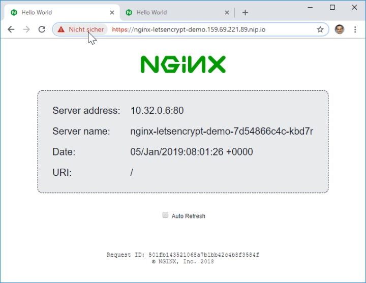 """HTTPS access still showing """"unsecure"""""""