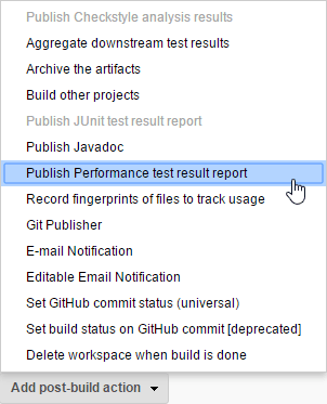 Publish Performance test result report