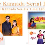 Zee Kannada Serial List