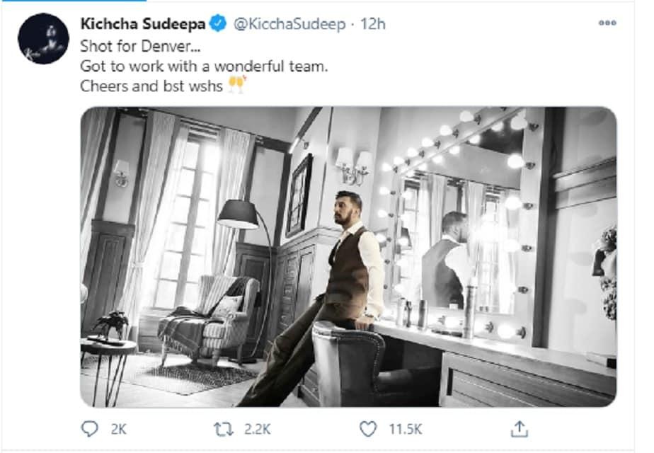 Kichchca Sudeep Twitter