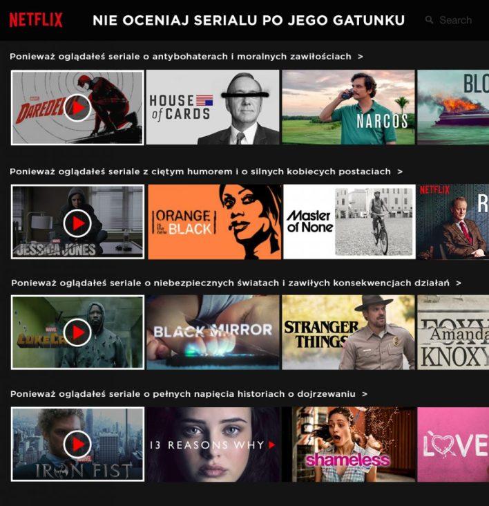 Netflix / System rekomendacji