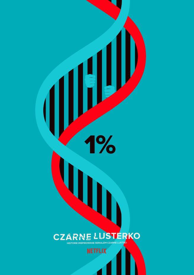 """Grupa Filmowa Darwin prezentuje """"1%"""" w ramach cyklu """"Czarne lusterko"""" na potrzeby promocji serwisu Netflix."""