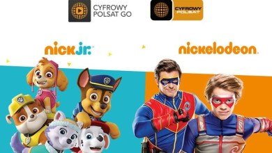 Nickelodeon, NickToons, Nick Jr, CP GO, Cyfrowy Polsat GO