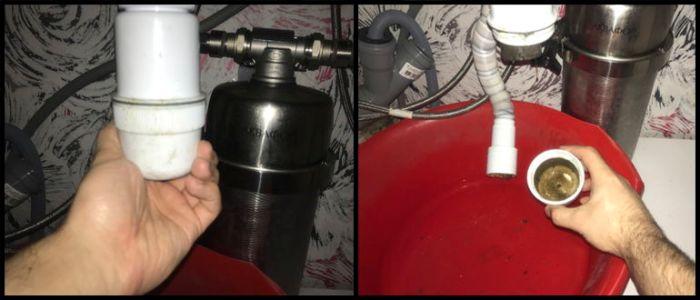 Разборка сифона на раковине в кухне - Водовед